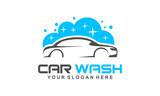 car wash logo, modern car wash and professional automotive vector logo design