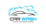 car wash logo, modern car wash and professional automotive vector logo design