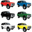 Vector Vintage Classic truck in multiple colors