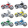 Vector Vintage Classic Motorcycle in multiple colors