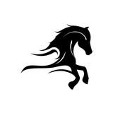 Elegant Horse Run Silhouette Logo