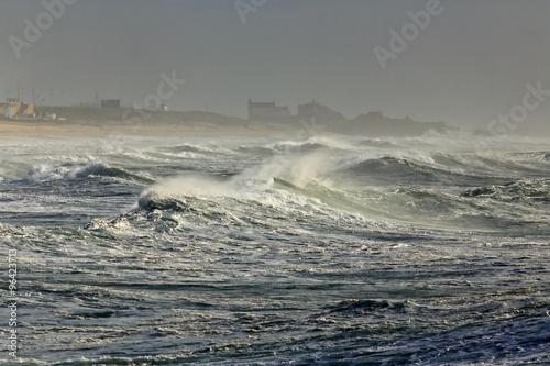 Stormy sea coast