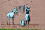 Street art in Ukraine, graffitti wall.
