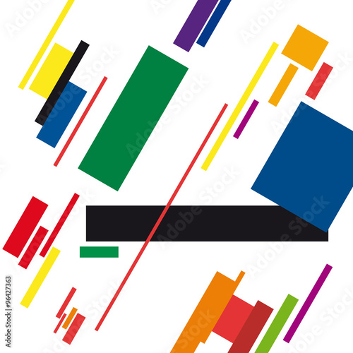 abstract geometric colorful vector background - 96427363