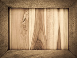 Fototapety Vintage style wooden frame with wood texture background