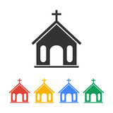 Fototapety church icon. vector illustration