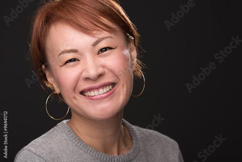 Japanese Woman Headshot Poster