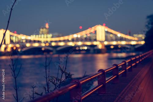 Poster Chelsea bridge night faded