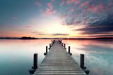 Fototapety Sommermorgen mit Sonnenaufgang