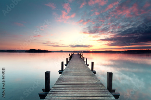 Naklejka Sommermorgen mit Sonnenaufgang