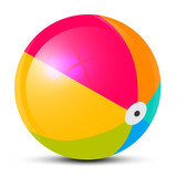Fototapety Colorful Vector Beach Ball Isolated on White Background
