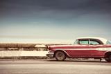 Fototapety Old american car on street in Havana,Cuba