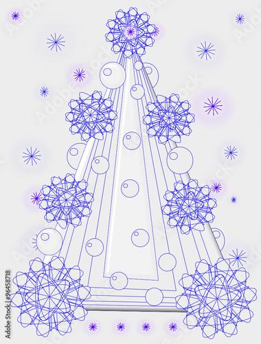 Rbol de navidad fino bello y elegante de trazo azul - Arbol de navidad elegante ...