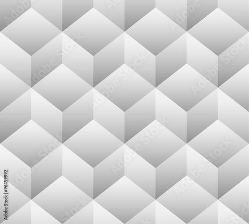 3d cubes seamless, repeatable pattern. Vector art. - 96459992