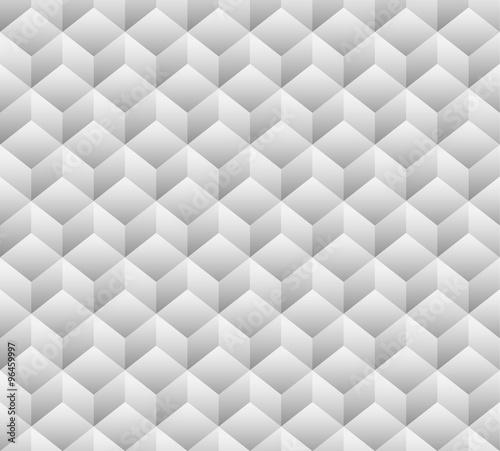 3d cubes seamless, repeatable pattern. Vector art. - 96459997