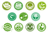 Bio, eco, organic and natural green labels