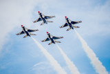Fototapety USAF Fighter Planes in Diamond Formation
