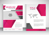 Brochure design a4 template place for pictures. Vector illustration. Business Brochure