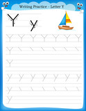 Fototapety Writing practice letter Y