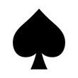 Playing card spade suit flat icon for apps and websites