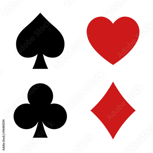 Playing Card Spade Heart Club Diamond Suit Flat Icon For Apps And