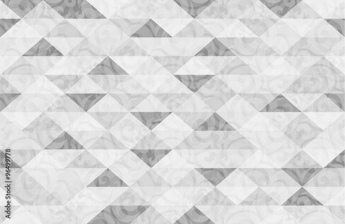 Black White Marble Triangle Pattern Background Illustration - 96499778