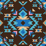 Fototapety colorful tribal seamless pattern