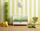 Baby's room with yellow chair