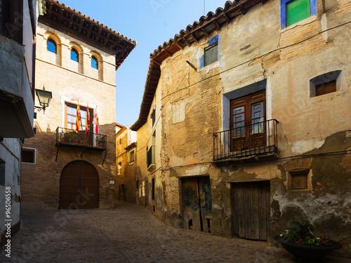 Narrow street at old spanish town. Borja Poster