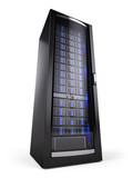 network server rack isolated on white