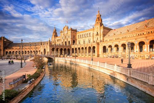 Zdjęcia na płótnie, fototapety, obrazy : Plaza de Espana (Spain square) in Seville, Andalusia