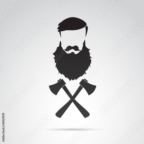 Beard, funny, motivational illustration. Vector art. Poster