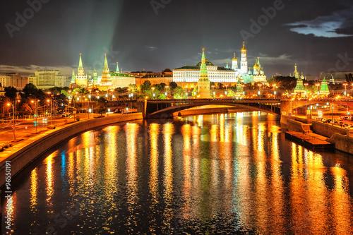Fototapeta Moscow Kremlin at night, Russia
