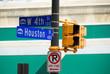 Houston Street Sign - Dallas/Fort Worth