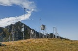 Old weather station in the high mountains