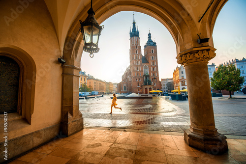 Zdjęcia na płótnie, fototapety na wymiar, obrazy na ścianę : Market square in Krakow