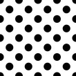 Cotton fabric Big Polka Dot seamless pattern. Abstract fashion black and white texture. Monochrome template. Graphic style for wallpaper, wrapping, fabric, background, apparel, print production, etc. Vector