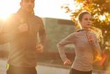 Fototapety couple running outdoors
