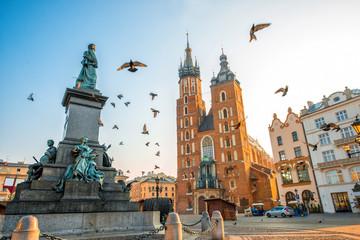 Stare Miasto centrum widoku w Krakowie