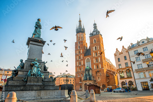 Fototapety, obrazy : Old city center view in Krakow
