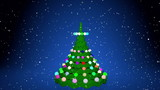 Christmas tree animation with gifts