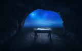 Fototapety Manger in cave