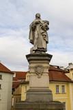 Statue of Saint Philip Benizi de Damiani on Charles bridge in Pr - 96625566