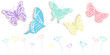 Butterfly and flowers abstract spring time banner vector background