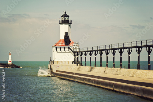 Lighthouse in Michigan City - 96662394