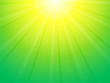 green yellow background with sun rays