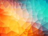 Fototapety low poly orange blue background