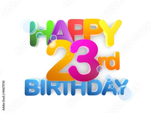 happy 23rd birthday on first birthday cake clip art