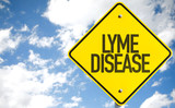 Lyme Disease sign with sky background