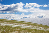 Slovakia - The field in spring country of Silicka planina